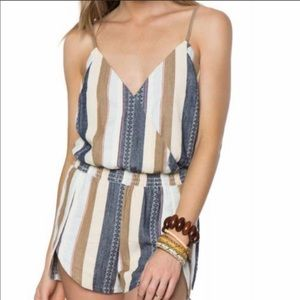 O'Neill Branda Navy Blue Stripped Romper XL